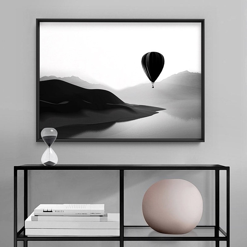 Flying High - Art Print, Stretched Canvas or Framed Canvas Wall Art, Shown inside a frame