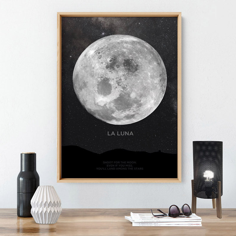 La Luna Moon - Art Print, Stretched Canvas, or Framed Canvas Wall Art