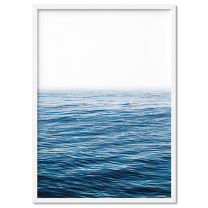 Calm Ocean Horizon - Art Print, Stretched Canvas, or Framed Canvas Wall Art