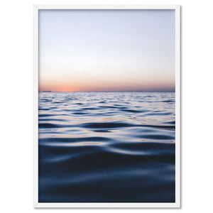 Calm Ocean Horizon at Dusk - Art Print, Stretched Canvas, or Framed Canvas Wall Art