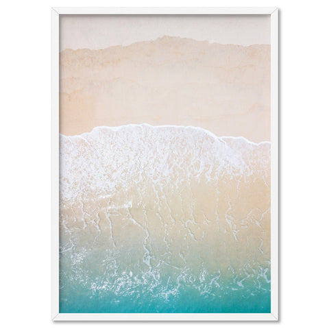 Sandy Beach from the Air - Art Print, Stretched Canvas, or Framed Canvas Wall Art
