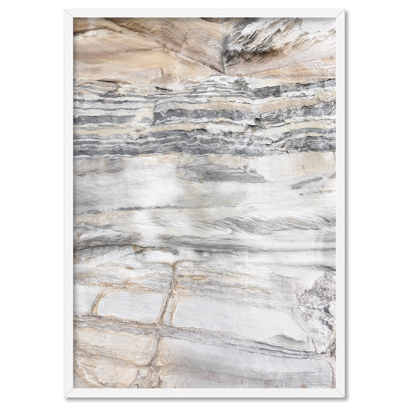 Bondi Rock Face I - Art Print, Stretched Canvas, or Framed Canvas Wall Art
