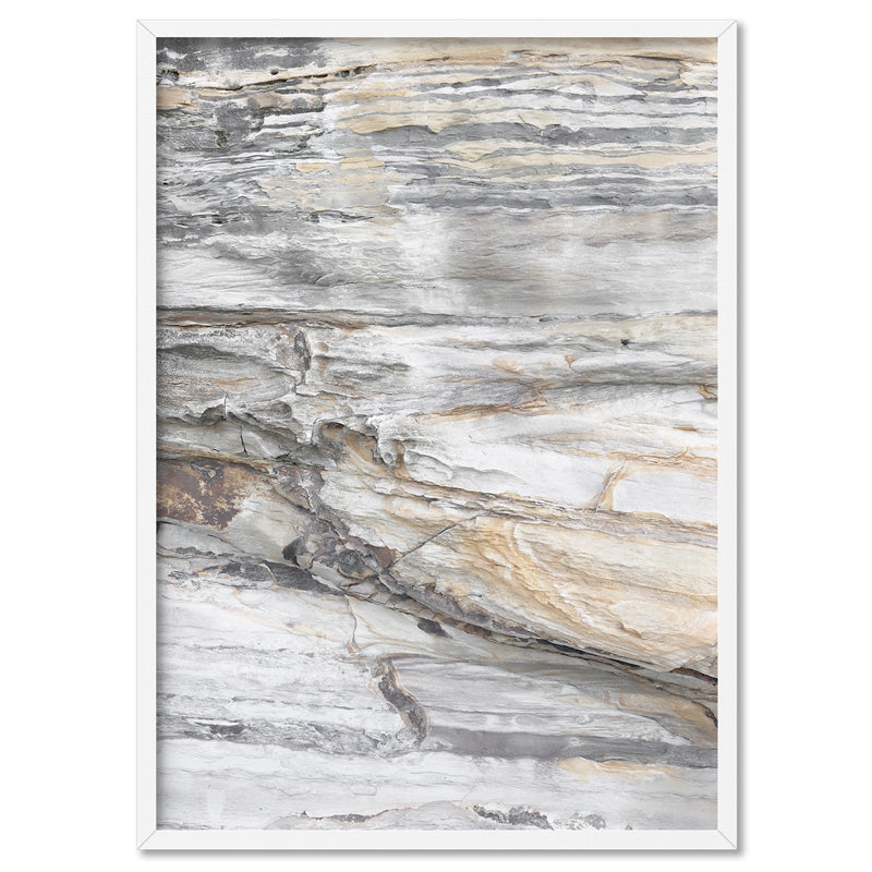 Bondi Rock Face II - Art Print, Stretched Canvas, or Framed Canvas Wall Art