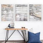 Bondi Coastal Rock Face II - Art Print, Stretched Canvas or Framed Canvas Wall Art, Shown framed in a room mockup