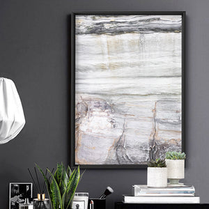 Bondi Coastal Rock Face III - Art Print, Stretched Canvas or Framed Canvas Wall Art, Shown inside a frame