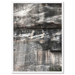 Freshwater Rock Face I - Art Print, Stretched Canvas, or Framed Canvas Wall Art