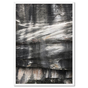 Freshwater Rock Face II - Art Print, Stretched Canvas, or Framed Canvas Wall Art