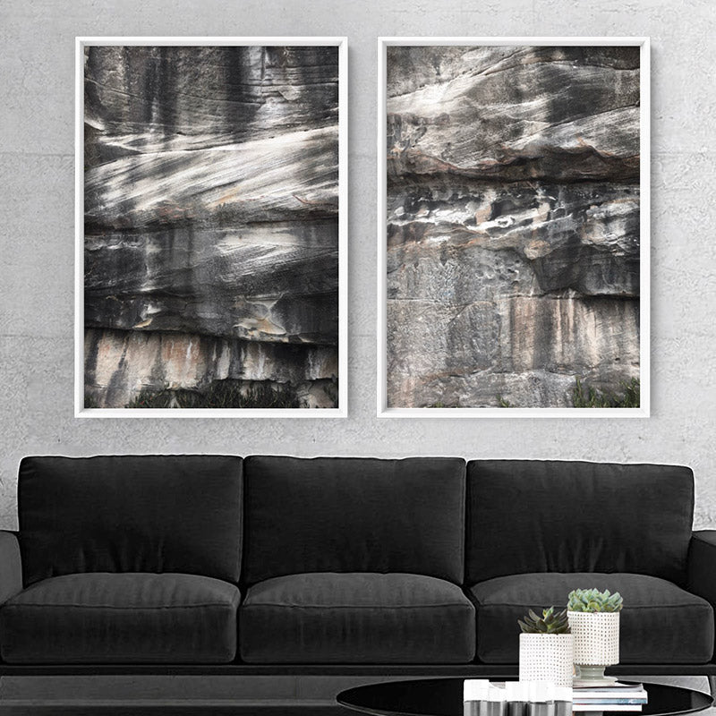 Freshwater Coastal Rock Face II - Art Print, Stretched Canvas, or Framed Canvas Wall Art