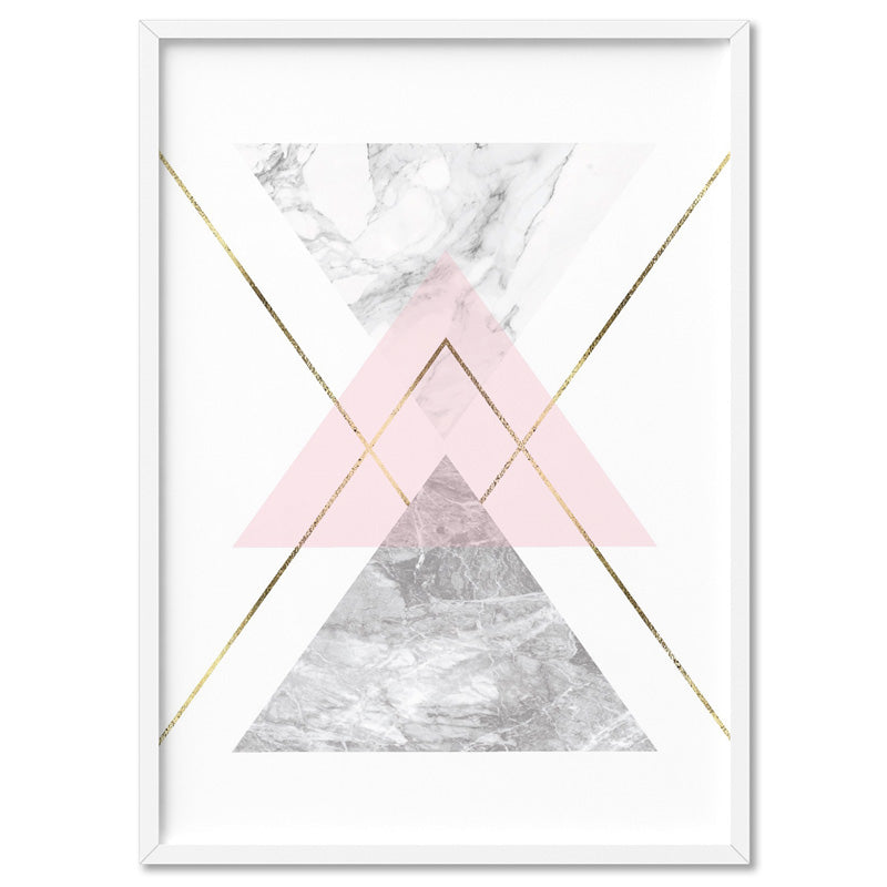 Geometric Marble Shapes II - Art Print