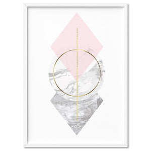 Geometric Marble Shapes III - Art Print, Stretched Canvas, or Framed Canvas Wall Art
