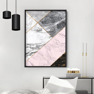 Load image into Gallery viewer, Geometric Marble Slices I - Art Print