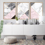 Geometric Marble Slices III - Art Print, Stretched Canvas, or Framed Canvas Wall Art