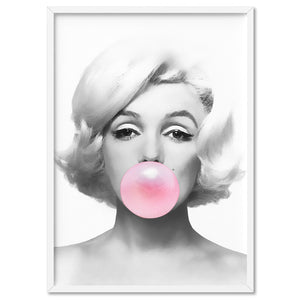 Load image into Gallery viewer, Marilyn Bubblegum - Art Print, Stretched Canvas, or Framed Canvas Wall Art