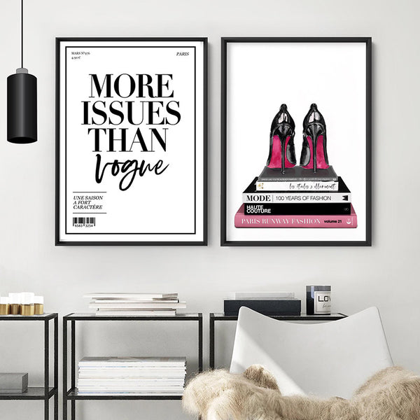 Red Bottom Heels Stack - Art Print