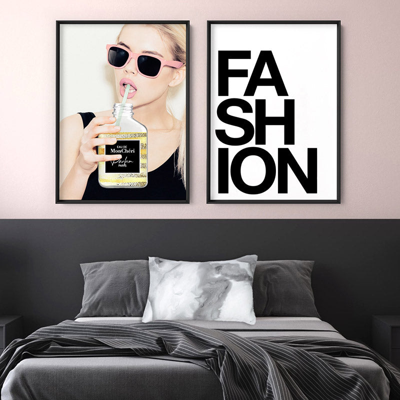 Take a Sip of Parfum - Art Print, Stretched Canvas or Framed Canvas Wall Art, Shown framed in a room mockup