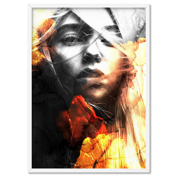 This Girl is on Fire - Art Print, Stretched Canvas, or Framed Canvas Wall Art
