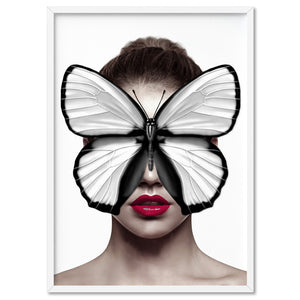 Butterfly Mask - Art Print, Stretched Canvas, or Framed Canvas Wall Art