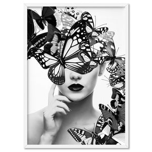 Load image into Gallery viewer, Butterflies En Vogue II - Art Print, Stretched Canvas, or Framed Canvas Wall Art