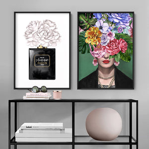 Frida Kahlo Watercolour Flower Bomb - Art Print