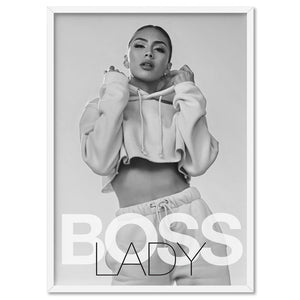 BOSS Lady Black and White II - Art Print, Stretched Canvas, or Framed Canvas Wall Art