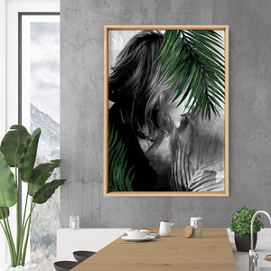 Hideaway in the Palms - Art Print, Stretched Canvas or Framed Canvas Wall Art, Shown inside a frame