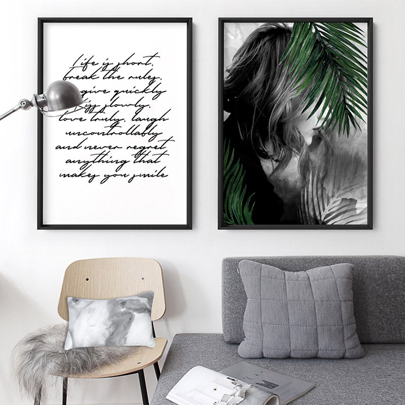 Hideaway in the Palms - Art Print, Stretched Canvas or Framed Canvas Wall Art, Shown framed in a room mockup