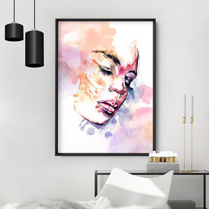 Dreaming inside the rainbow - Art Print, Stretched Canvas or Framed Canvas Wall Art, Shown inside a frame
