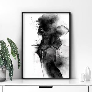 Out of the Shadows - Art Print, Stretched Canvas or Framed Canvas Wall Art, Shown inside a frame