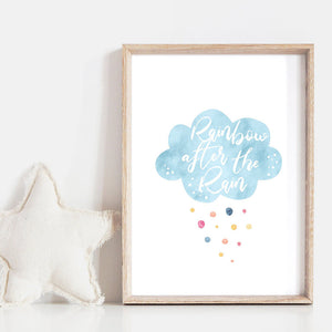 Pastel Bohemian Cloud | Rainbow After the Rain - Art Print, Stretched Canvas or Framed Canvas Wall Art, Shown inside a frame
