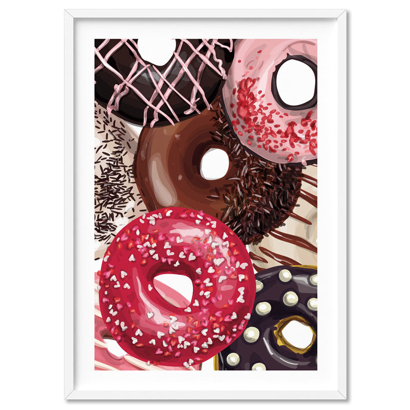 Load image into Gallery viewer, Yum Yum Donuts | Close Up - Art Print