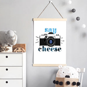 Say Cheese - Art Print, Stretched Canvas or Framed Canvas Wall Art, Shown inside a frame