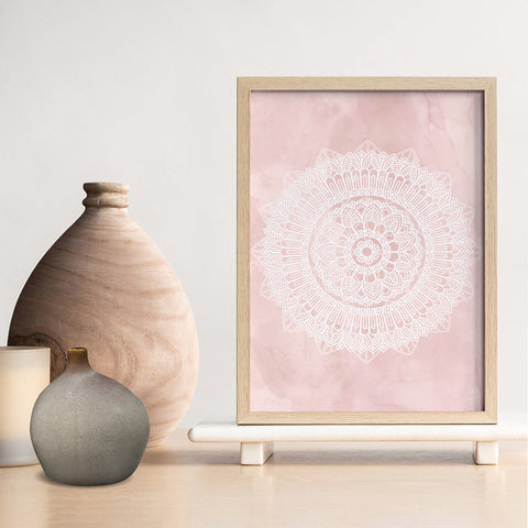 Mandala in Blush - Art Print, Stretched Canvas, or Framed Canvas Wall Art