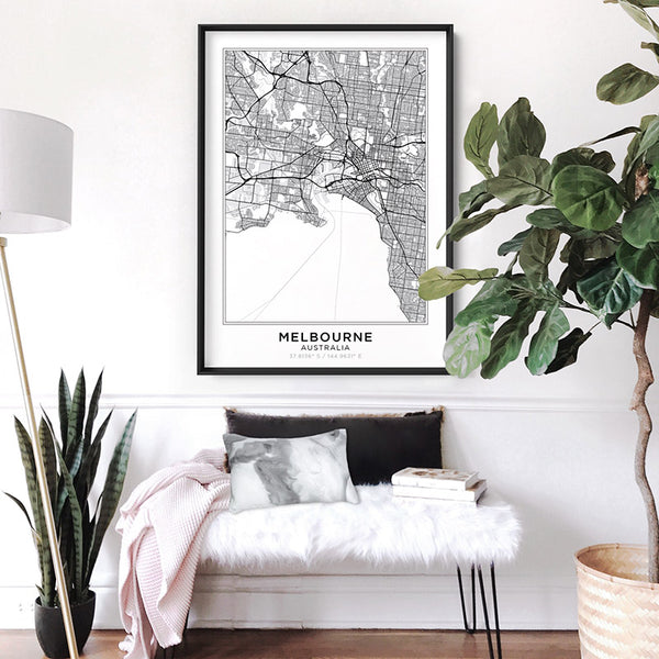 City Maps / MELBOURNE - Art Print