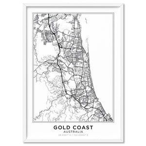 City Map | GOLD COAST - Art Print, Stretched Canvas, or Framed Canvas Wall Art