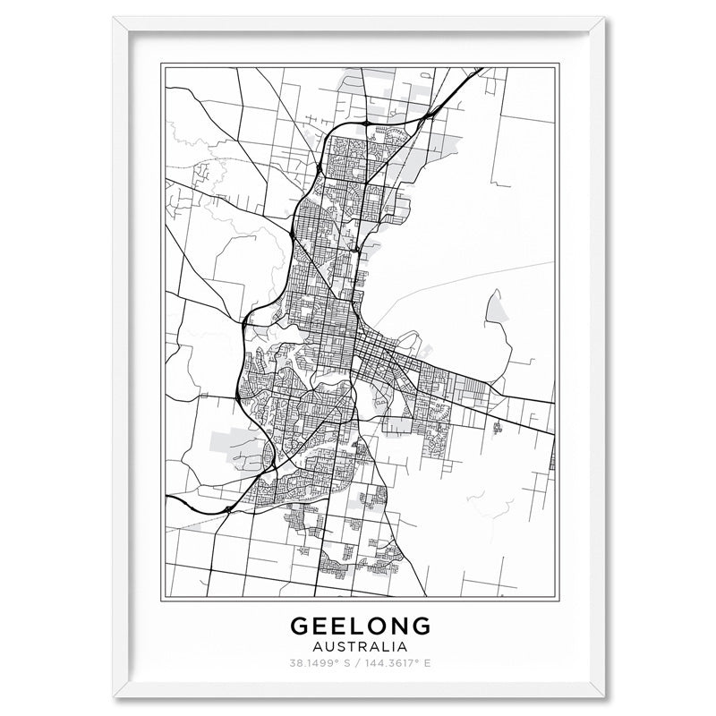 City Maps / GEELONG - Art Print