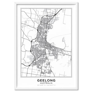 City Maps / GEELONG - Art Print, Stretched Canvas, or Framed Canvas Wall Art