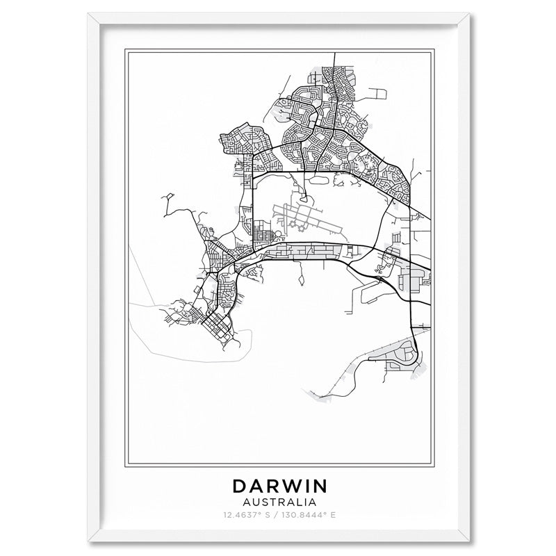 City Maps / DARWIN - Art Print