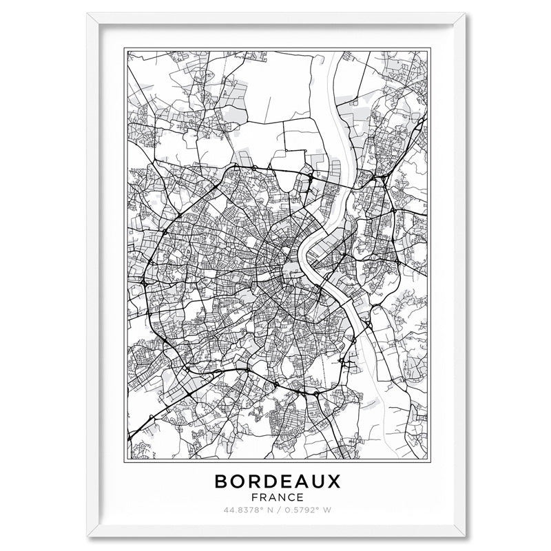 City Maps / BORDEAUX - Art Print