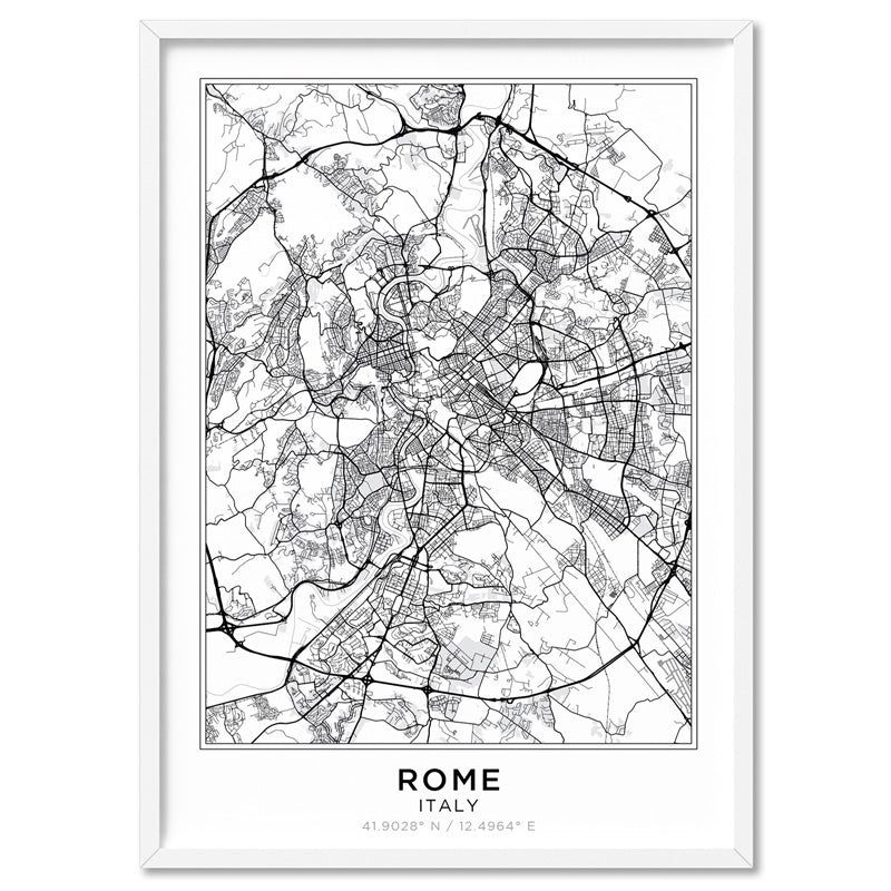 City Maps / ROME - Art Print