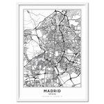 City Maps / MADRID - Art Print, Stretched Canvas, or Framed Canvas Wall Art