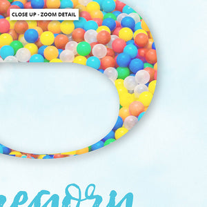 Custom Kids Bright Sprinkles | Initial & Name  - Art Print, Stretched Canvas or Framed Canvas Wall Art, Close up View of Print Resolution