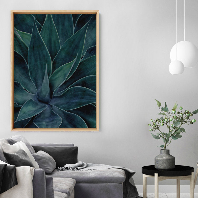 Dark Agave - Art Print, Stretched Canvas, or Framed Canvas Wall Art
