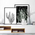 Palm fronds shadow & light - Art Print, Stretched Canvas, or Framed Canvas Wall Art