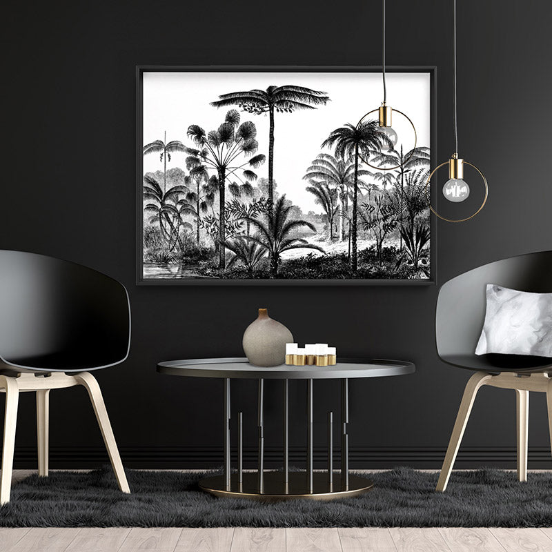 Rainforest Vintage Botanical Illustration I - Art Print, Stretched Canvas, or Framed Canvas Wall Art