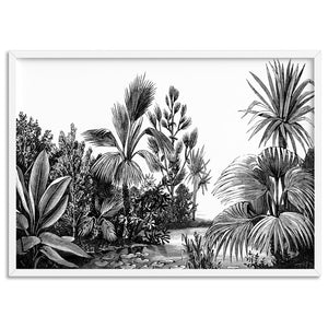 Rainforest Vintage Botanical Illustration II - Art Print, Stretched Canvas, or Framed Canvas Wall Art
