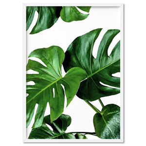 Monstera Leaves - Art Print, Stretched Canvas, or Framed Canvas Wall Art