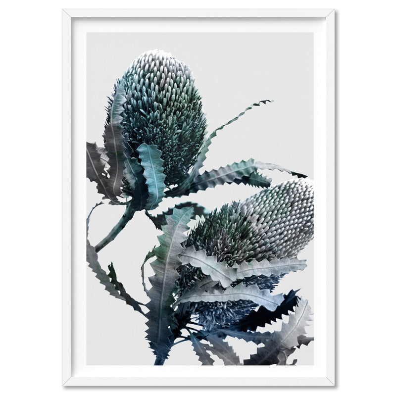 Banksia Blues Abstract I - Art Print