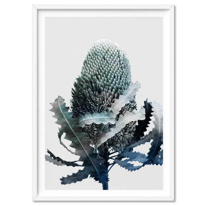 Banksia Blues Abstract II - Art Print