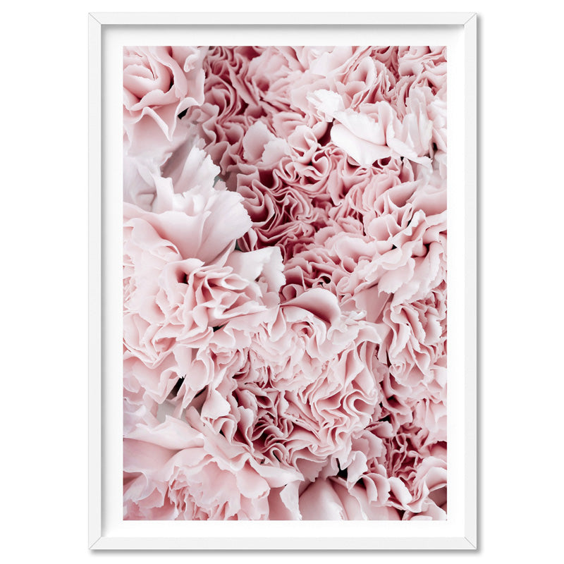 Light Pink Ruffles | Sea of Flowers - Art Print