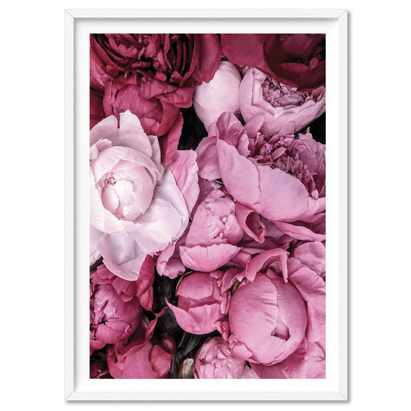 Pink Peonies | Sea of Flowers - Art Print